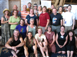 Photo of the facilitator training group in Yarrow.