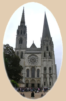 The west portal of Chartres Cathedral.