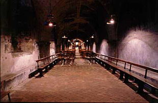 A view of a section of the Cathedral crypt.